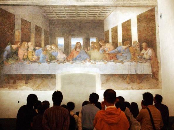 Il «Cenacolo» si trova nel museo nazionale in piazza di Santa Maria delle Grazie (Fotogramma)