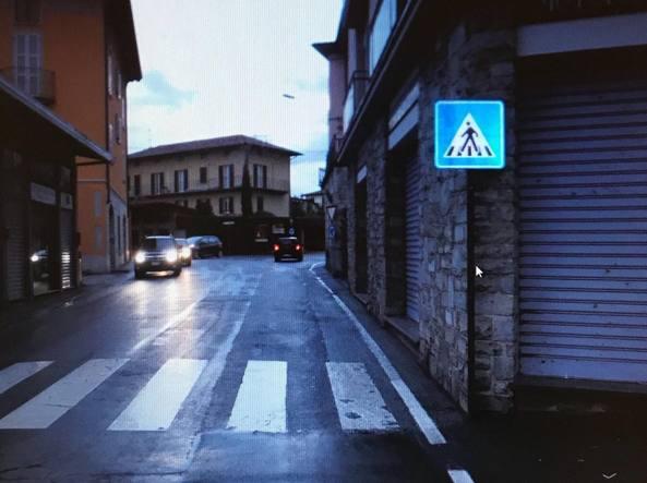 L'incrocio di Mandello del Lario dove è avvenuto l'incidente