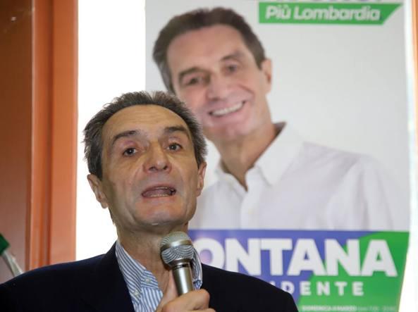 Il candidato del centrodestra per la Lombardia Attilio Fontana (LaPresse)