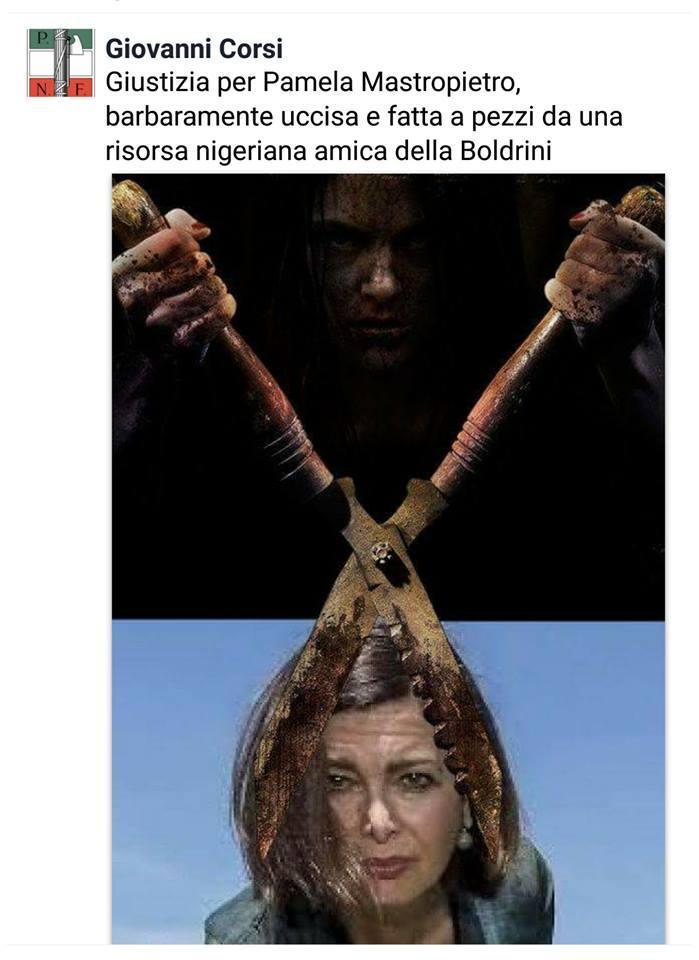 La foto pubblicata sulla pagina Facebook dei Sentinelli di Milano
