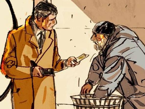 L'offerta. Intorno alle 13.15 di martedì, in via Marghera, un dipendente di banca s'è avvicinato a un clochard e gli ha offerto 5 euro