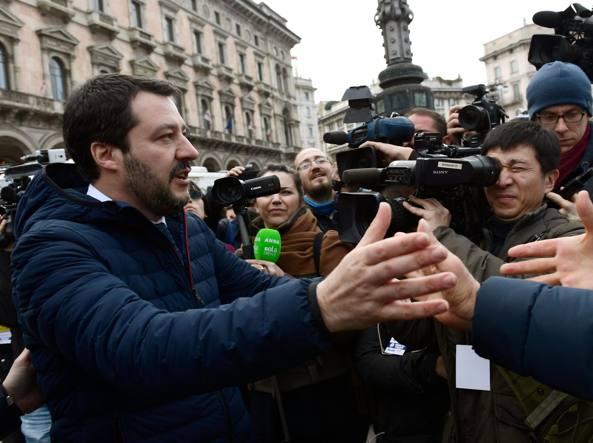 Salvini a Milano: